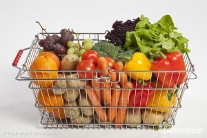 Put organic food in your basket