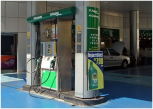Ethanol fuel station in Brazil